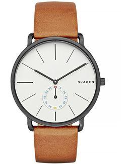 Hagen Leather Strap Watch
