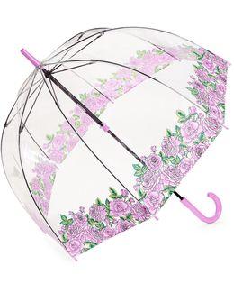 Ladies Floral Coming Up Roses Birdcage Umbrella
