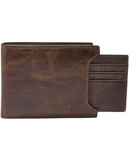 Derrick Leather Sliding Two-in-one Wallet