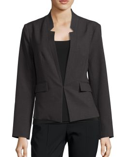 Reverse Notch Collar Jacket