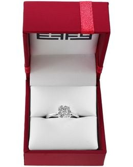 0.5 Tcw Diamond Cluster Engagement Ring Box Set