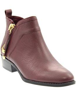 Sondra Leather Zip Booties