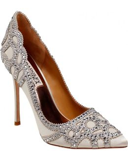 Rouge Pointy Rhinestone Pumps