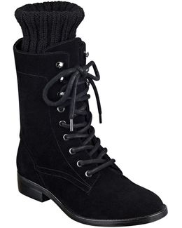 Galina Suede Combat Boots