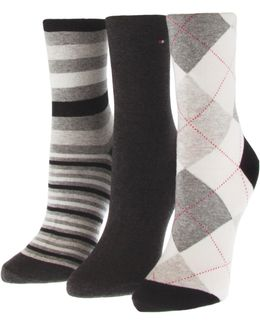 Three-pack Assorted Crew Socks