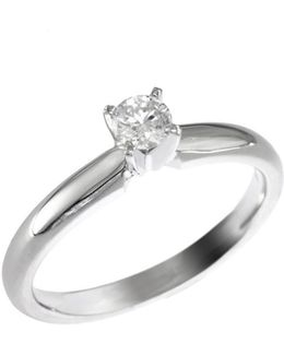 14k White Gold 0.20ct Diamond Engagement Ring