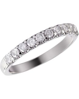 14k White Gold 0.50ct Diamond Wedding Band