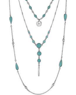 Silvertone Layered Necklace