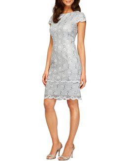 Tiered Lace Sheath Dress