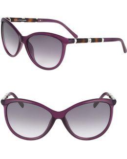 Reese 58mm Cat-eye Sunglasses