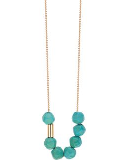18k Rose Gold Sky Fall Turquoise Necklace