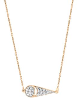 Mini Buddha 18k Rose Gold Necklace With 0.035 Total Carat Diamond Weight
