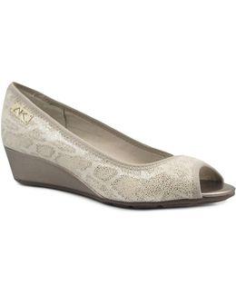 Camrynne Peep Toe Wedge Heels