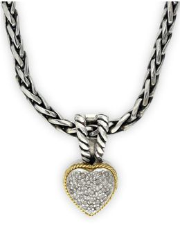 Balissima Sterling Silver And Gold Heart Pendant