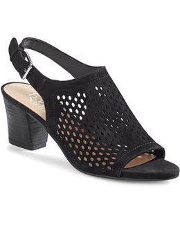 Monaco2 Perforated Suede Sandals