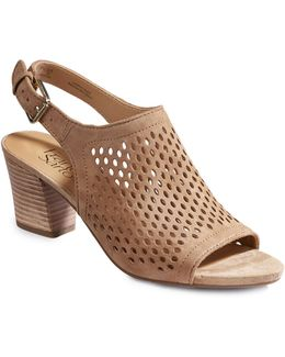 Monaco2 Perforated Suede Sandals