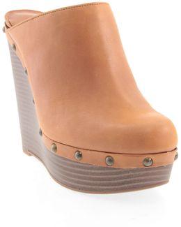 Gailen Leather Wedge Sandals