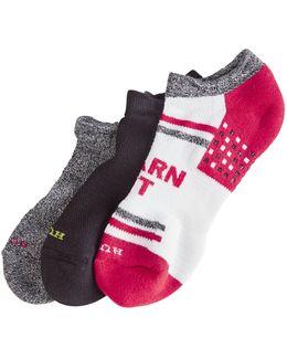 Three-pack Air Cushion No Show 3d Sole Ankle Socks