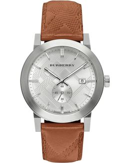 The City Leather Strap Watch