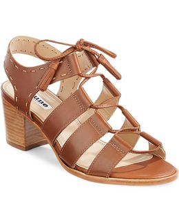 Ivanna Ghillie Leather Sandals