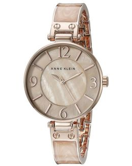 Mother Of Pearl And Rose Goldtone Stainless Steel Watch