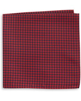 Gingham Silk Pocket Square