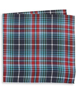 Plaid Silk Pocket Square