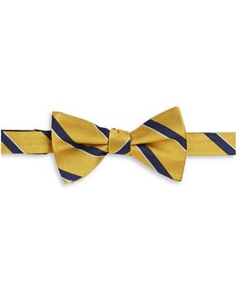 Striped Silk Bowtie