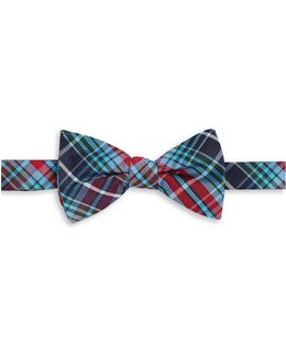 Plaid Silk Bowtie