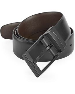 Reversible Smooth Leather Belt