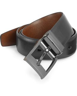 Zeus Reversible Leather Belt