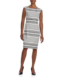 Mix Striped Sheath Dress