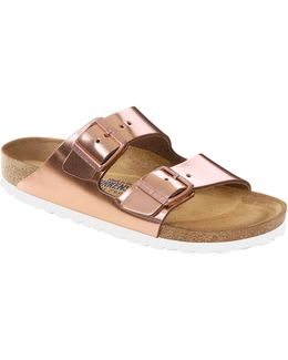 Arizona Metallic Soft-footbed Sandals