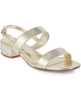 Ninah Jewelled Leather Sandals