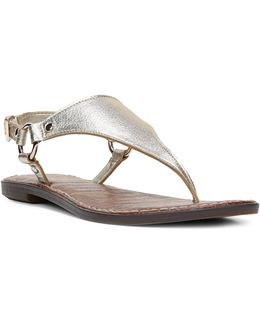 Greta Leather Thong Sandals