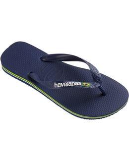 Brazilian Flag Flip Flop Sandals