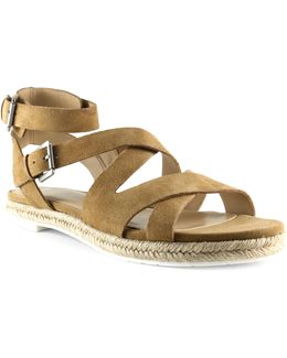 Alysse Leather Gladiator Espadrilles