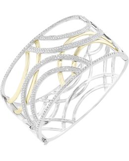 3.08 Total Carat Weight Diamond With White And Yellow Bangle