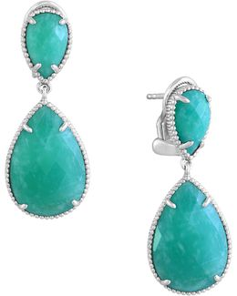 Sterling Silver And Amazonite Drop Earrings
