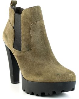 Clay Lug Sole Microsuede Boots
