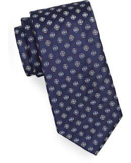 Geo-patterned Silk-blend Tie