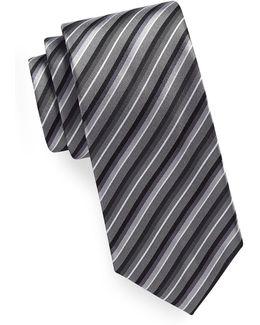 Tonal Stripe Silk-blend Tie