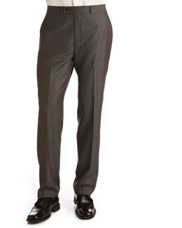 Big And Tall Charcoal Modern Fit Wool Suit Separate Pants