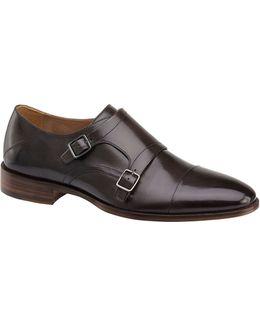 Nolen Double Monk Leather Shoes
