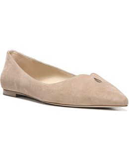 Ruby Point-toe Leather Flats