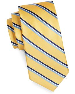 Core Stripe Silk Tie