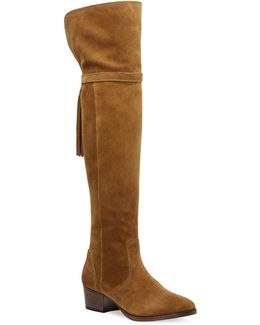 Clara Tassel Over-the-knee Suede Boots