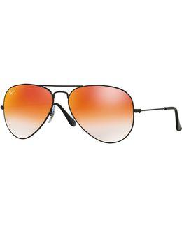 Large Metal 58mm Aviator Sunglasses