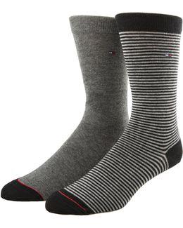 Two-pack Colour Stripe Crew Socks