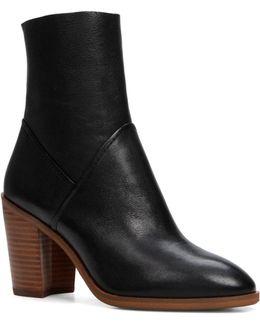 Fearien Mid-calf Block Heel Ankle Boots